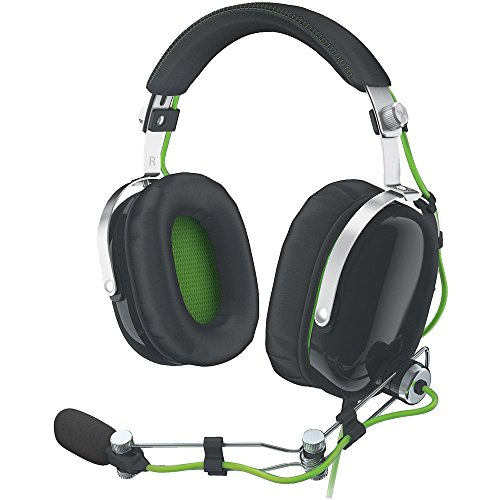Razer BlackShark Over Ear Noise Isolating PC Gaming Headset - Metal Construction and Compatible with PS4