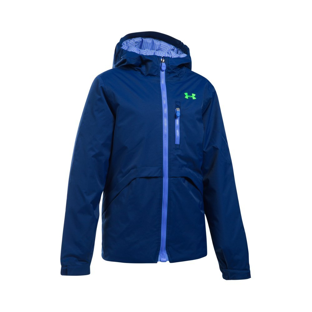Under Armour Girl's ColdGear Reactor Yonders Jacket, Caspian/Violet Storm, Youth X-Small