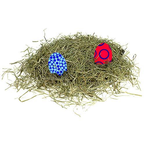 Paasgras 160 gr hooi decoratieve gras bergweidenhooi 4 zakken à 40 g paasnest geschenkmand