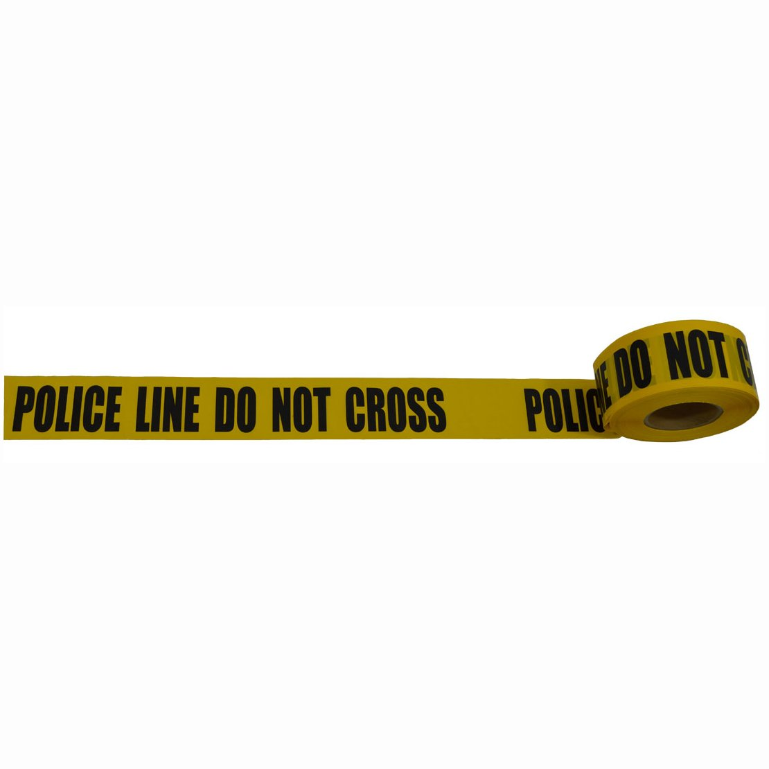 Petra Roc BT-POLICE Barricade Tape 2 Mil 3'' x 1000', Yellow/Black Printing, Police Line DO NOT Cross, Yellow