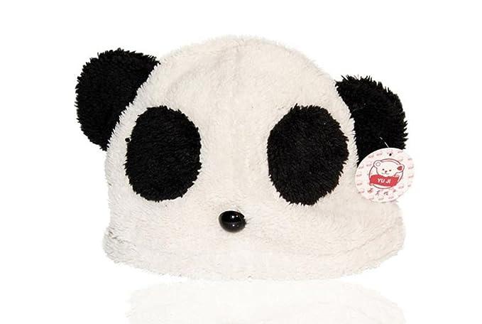 Chic-Net Cappello Berretto Ski Animale Viso Panda Orso Unisex Bianco Nero Bambini  Adulti Uomo Donna Ragazzi Ragazze Peluche Knopf Naso Caldo Inverno ... d256a0bb1fa4