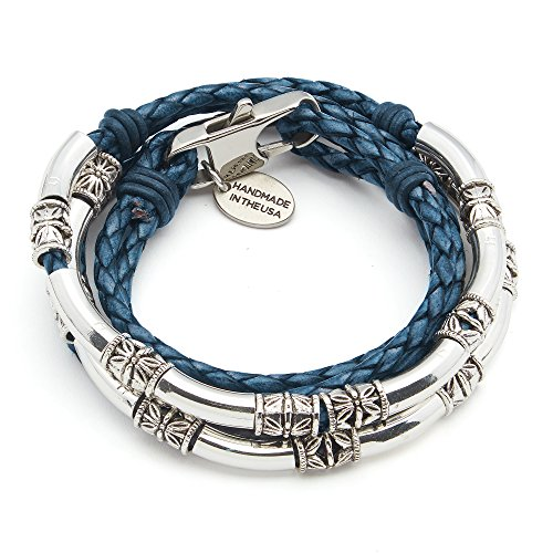 Lizzy James MiniBraided Leather Wrap Bracelet