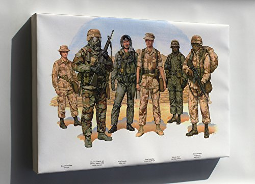 Canvas 24x36; Operation Desert Storm Uniforms