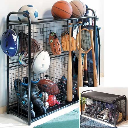 Review Sports Organizer-Hang bats, store