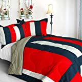 [Caroline Lovers] Quilted Patchwork Down Alternative Comforter Set (Twin Size)