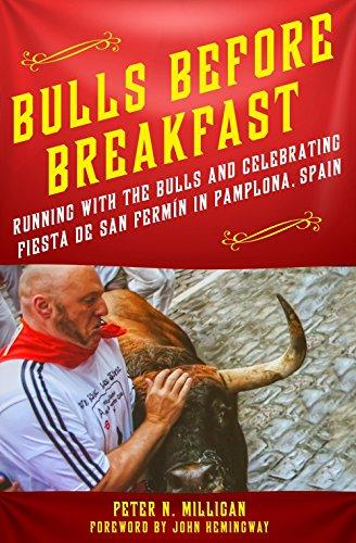 Bull Adult Running (Bulls Before Breakfast: Running with the Bulls and Celebrating Fiesta de San Fermín in Pamplona, Spain)