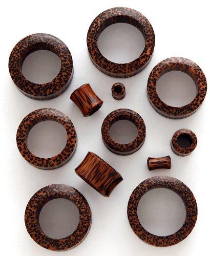100% Handmade Organic Coconut Wood Tunnel Ear Plugs - 2 Gauge / 6mm