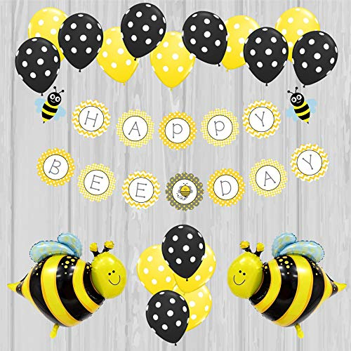 Happy Bee Day Birthday Decoration Pack, Bee Themed