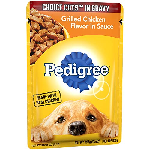 Pedigree Choice Cuts In Gravy Grilled Chicken Flavor In Sauce Adult Wet Dog Food, (16) 3.5 Oz. Pouches