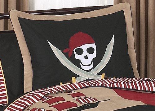 Sweet Jojo Designs 3-Piece Treasure Cove Pirate Children's Full / Queen Boys Bedding Set by Sweet Jojo Designs (Image #1)