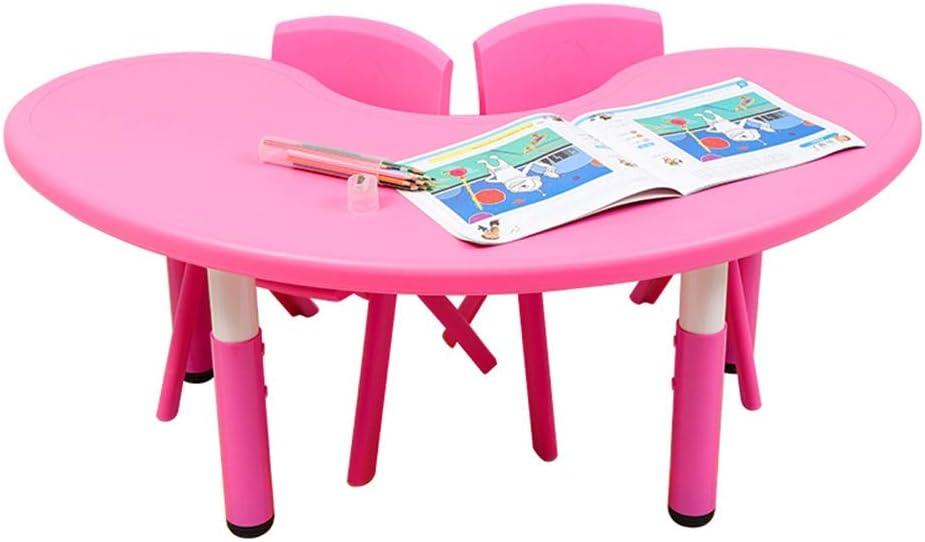 子ども用テーブル椅子セット あなたの子供のための教育幼児家具セットパーフェクトなギフト - 子供のために2つの椅子や1つのアクティビティテーブルを - セット子供のテーブルと椅子 子供用テーブルチェアセット (色 : ピンク, サイズ : 120x45cm)