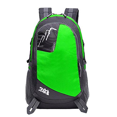 "Fulltime (TM) al aire libre mochila senderismo bolsa Camping juego impermeable de viaje montañismo paquete bolsa, hombre mujer Infantil, hot pink, 51cm x 30cm x 20cm; (inch):20.1"" x 12'' x 7.8'' verde"