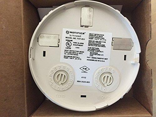 (Notifier FST-851 Intelligent Addressable Plug-In Thermal Heat Detector Sensor)