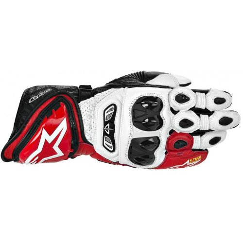 Alpinestars GP Tech Leather Gloves , Gender: Mens/Unisex, Primary Color: Red, Size: XL, Distinct Name: White/Red/Black, Apparel Material: Leather 3556613-231-XL