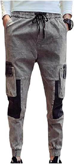 AngelSpace Men Stitch Fall Winter Close Bottom Casual with Pockets Pants