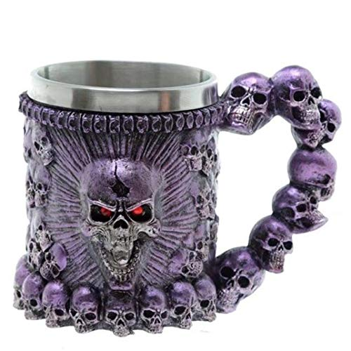 ( Halloween Clearance, Skull Tankard Coffee Mug Cup Cool Stainless Steel Tea Mug Cup for 3D Design Mugs)