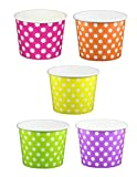 CANDY Colored Rainbow Ice Cream Cups 12 oz - 50 count