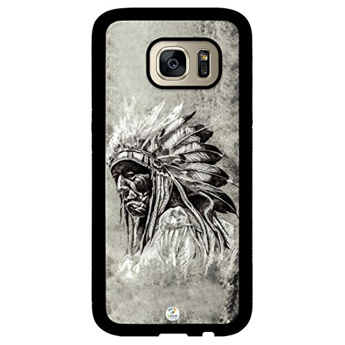 Galaxy S7 Case iZERCASE [Native American Tribal Chief] for Samsung Galaxy S7 (Black)