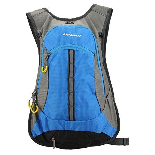 ANMEILU 15L Waterproof Cycling Backpack Men Women Shoulder Outdoor Bike Riding Mountain Bicycle Travel Hiking Camping Running Water Bag Blue