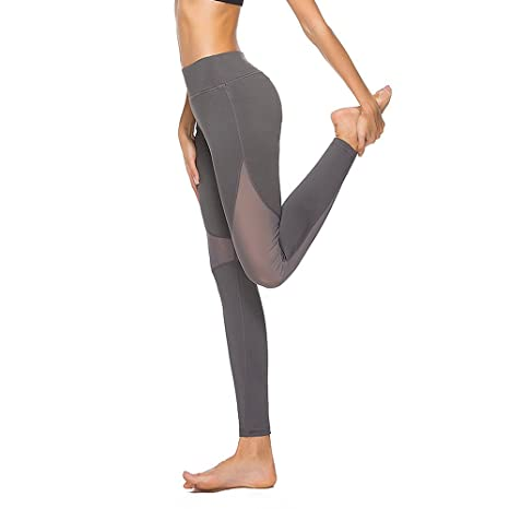 611948c2c2b0a Yoga Pants Fitness Running High Elastic Thin Quick-Dry Hollow Mesh Nine  Pants Female Workout Running (Color : Gray, Size : L): Amazon.ca: Home &  Kitchen