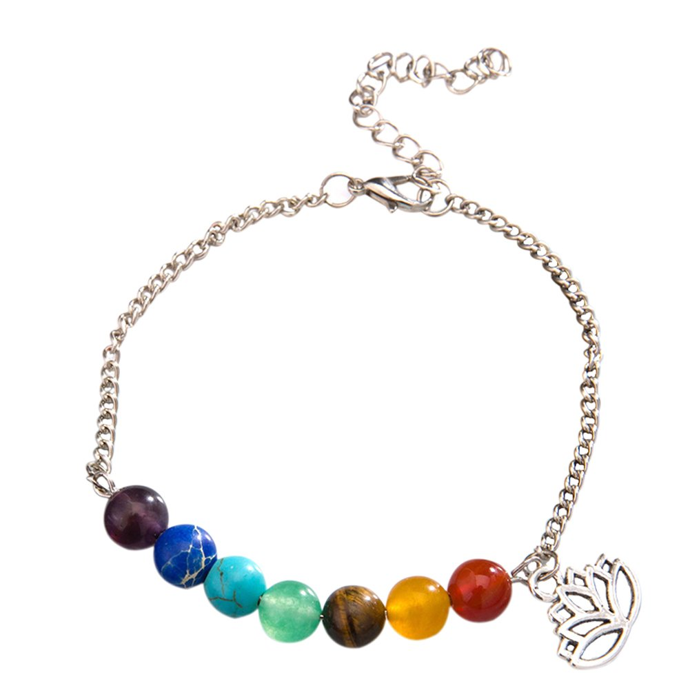 Yonger Girl Beads Bracelet Anklet Ladies Decorations Adjustable Size Multicolored Beads Chain