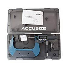 "Accusize - 3-4"" x 0.00005"" 2 Key Electronic Digital Outside Micrometer with Output, #MD71-0004"