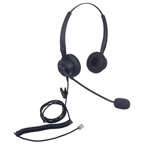 Audicom H201CSB Binaural Call Center Headset headphone with Mic for Cisco  Unified Telephone IP Phones 7931G 7940 7941 7942 7945 7960 7961 7962 7965