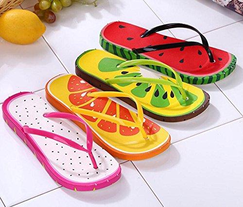 Fruta Y Para Playa De Chanclas Da Interior wa Estilo Zapatos Femenino Verano Sandalias AqwpHz