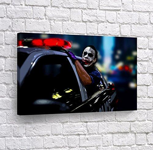 Joker Heath Ledger The Dark Knight in Police Car Window CANV