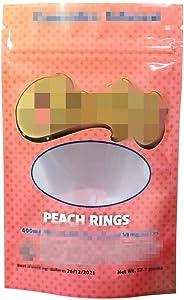 Mr.Ma Rich Mylar Bags Resealable Bags Smell zipperstorage bag foodstoragebag Packing Bags Ziplock Bag Edible Packaging bags No Labels/Empty bag 3.93x6.18in (PEACH RINGS,25)