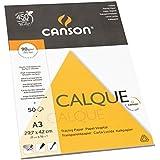 Canson Arts graphiques 200757241 Papier calque A3 29,7 x 42 cm 50 feuilles Transparent
