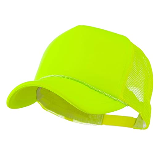 00968f2ca6a51 Neon Color Foam Front Summer Trucker Cap - Neon Yellow at Amazon ...