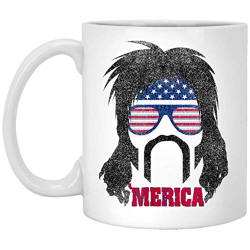 Redneck Gifts Mullet 4th of July Halloween Costume Coffee Mug]()