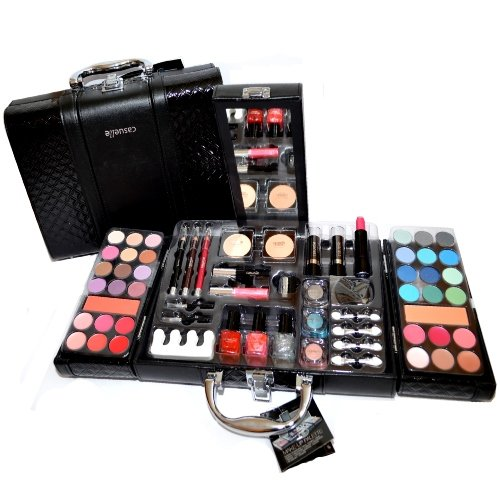 Exclusive en Cuir Synthétique De Maquillage Beauty Case Vanity 63 pièces (e797). Cosmelux