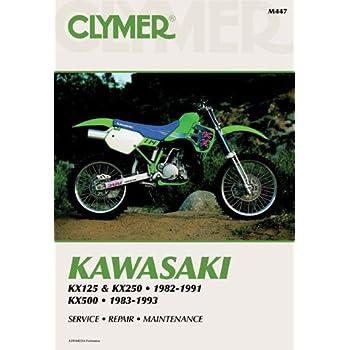 clymer repair manual for kawasaki kx125 kx250 kx500 82-04