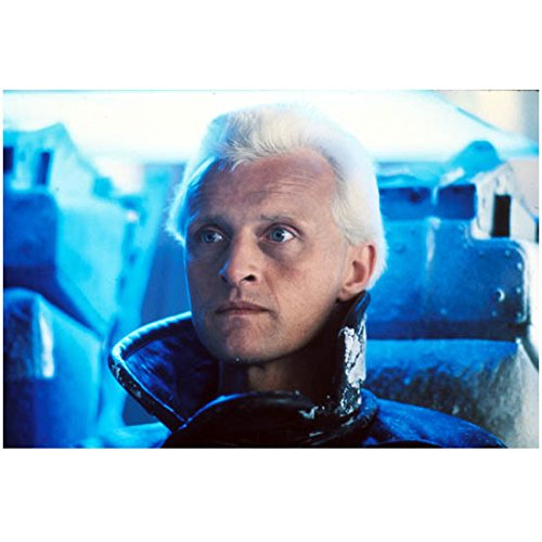 Rutger Hauer (8 inch by 10 inch) PHOTOGRAPH Blade Runner Ladyhawke Batman Begins Head Shot Collar of Coat Standing Up kn