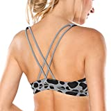 CRZ YOGA Women's Light Support Cross Back Wirefree Removable Cups Yoga Sport Bra Multicoloured #2 S