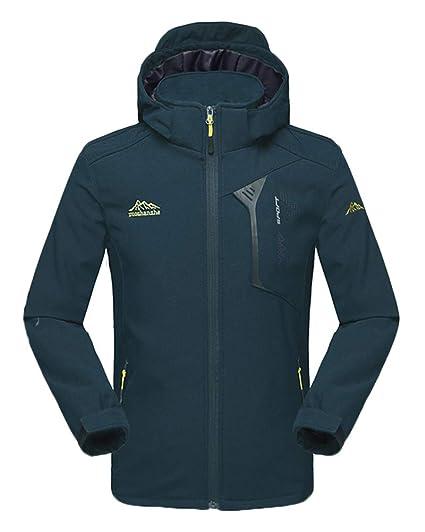 ea99b49f88e95 Homme Veste Randonnée Imperméable Softshell Coupe-Vent Manteau avec Capuche  Légère Outdoor Jacket: Amazon.fr: Vêtements et accessoires