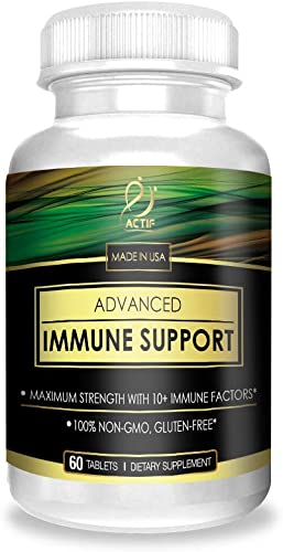 Actif Advanced Immune Support with 10 Factors for Immunity Booster – 100 Natural, Non-GMO, 60 count