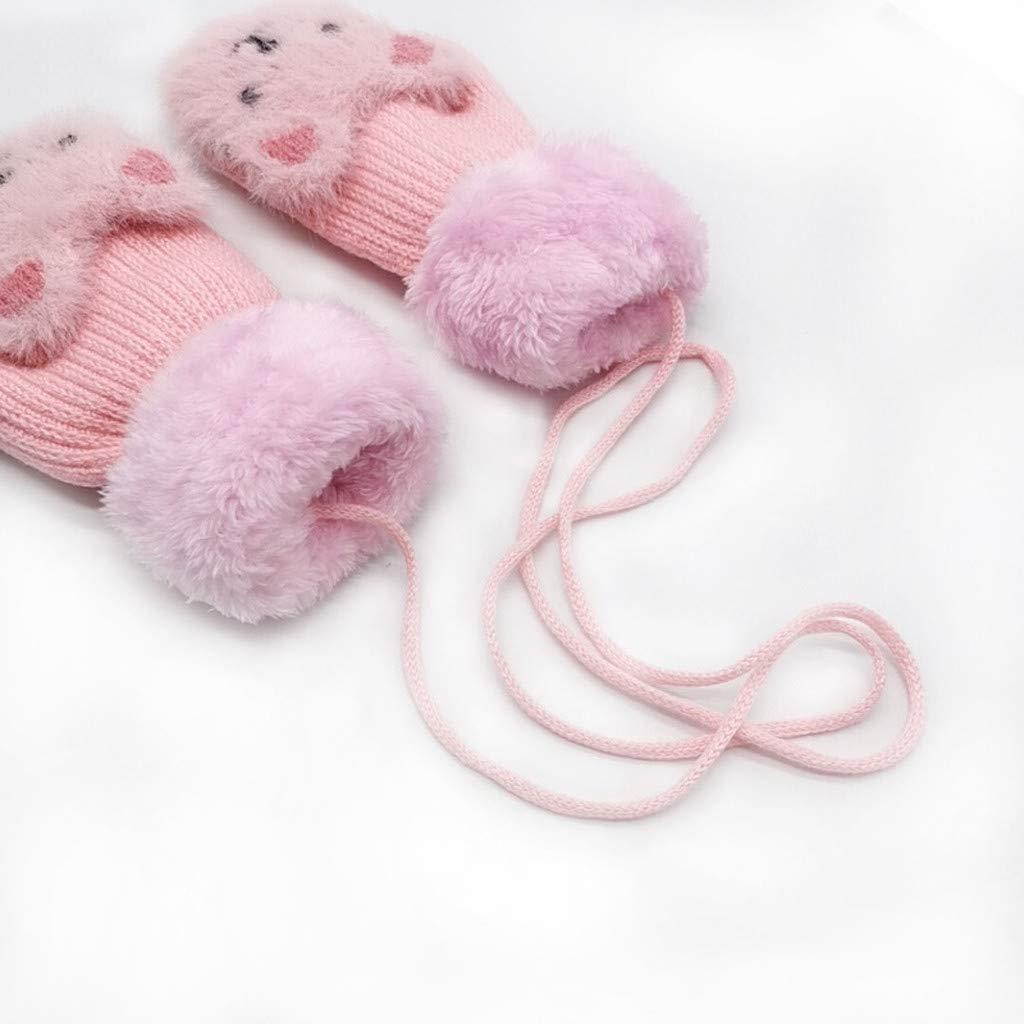 creativos y Bonitos Manoplas de Invierno Gruesas para ni/ños y ni/ñas Guantes de Invierno para beb/é Shenye