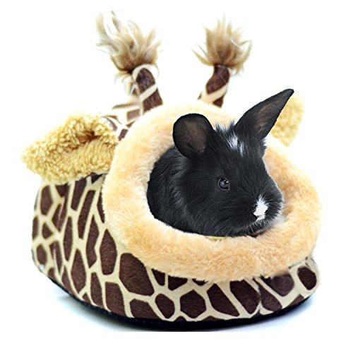 Bwogue Rabbit Guinea Pig Hamster Bed House Small Animal Pet Winter Warm Sleep Cave for Squirrel Hedgehog Chinchilla