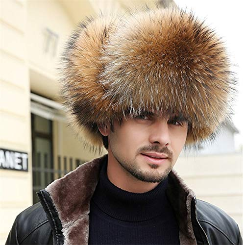 KAIJIN Nouveau Chapeau De Fourrure Pour Hommes Avec des Chapeaux De Fourrure En Plein Air Ski Chaud Lei Feng Casquette