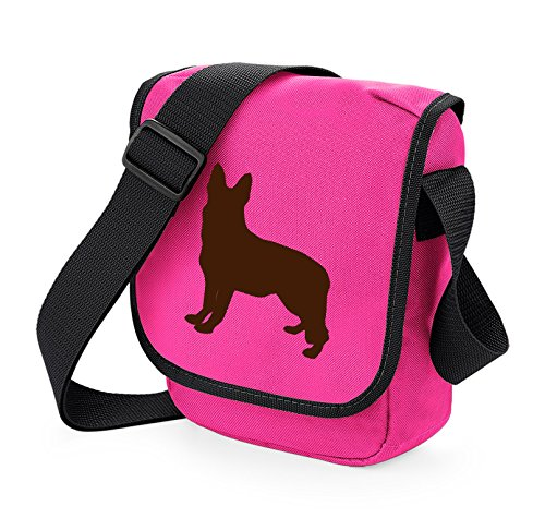 Shoulder Choice Silhouette Colours Brown Reporter Pink Of Alsation German Gift Bag Gsd Dog Shepherd fqwTIS