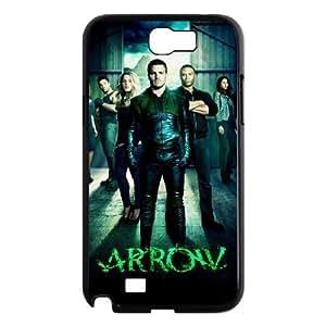 C-EUR Diy Phone Case Green Arrow Pattern Hard Case For Samsung Galaxy Note 2 N7100