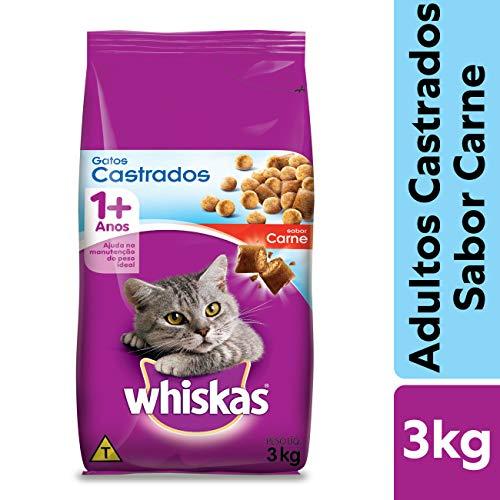 Ração Whiskas Carne Para Gatos Adultos Castrados 3 kg
