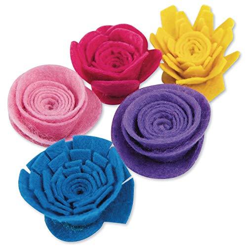 6 of each in 9 colors 108 pieces felt flowers die cut out felt flower pieces- 2 shapes Zebra print felt bold colors