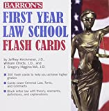 img - for Barron's First Year Law School Flash Cards: 350 Cards with Questions & Answers book / textbook / text book
