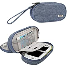 BUBM Sony PSV Double Compartment Storage Case, Protective Carrying bag, Portable Travel Organizer Case for PSV and Other Accessories,Blue