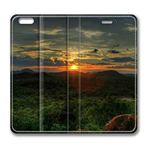African Sunset Standing Leather Smart Cover Case Exclusive for iPhone 6 Screen