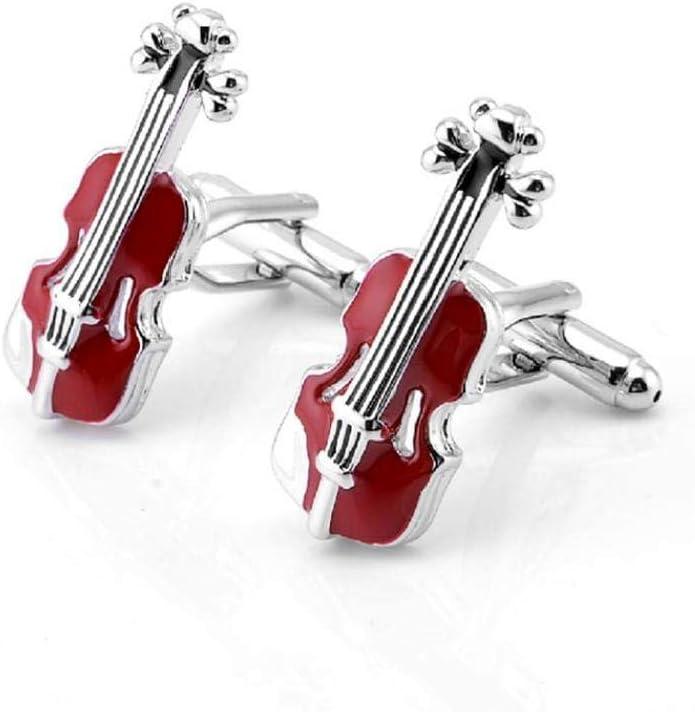 ZYCX123 Violín Rojo Francesa Gemelos Gemelos de Hombre Cello Personalizada personales Gemelos Regalo 28 * 11mm